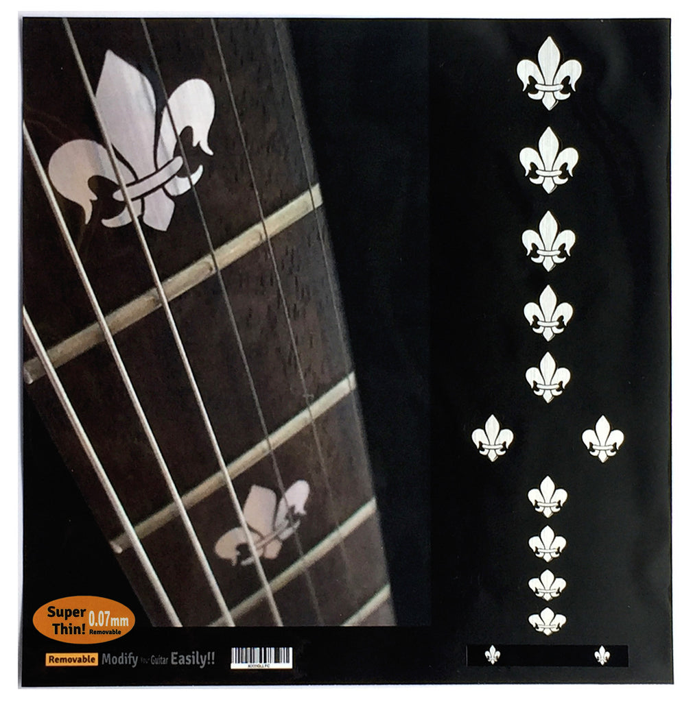Fleur de Lys Fret Markers Inlay Stickers - Inlay Stickers Jockomo
