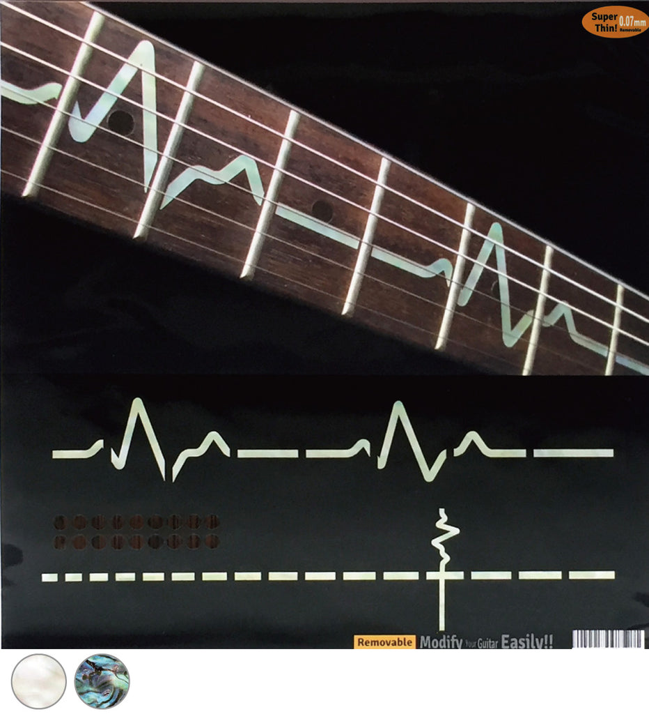 EKG / Heartbeat Line - Fret Markers Inlay Stickers for Guitar - Inlay Stickers Jockomo