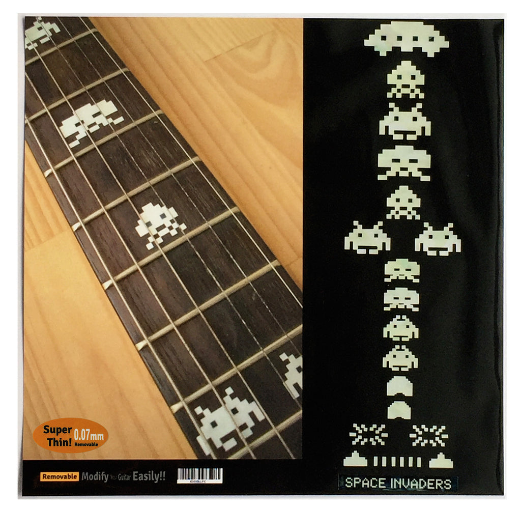 Space Invaders Fret Markers Inlay Stickers - Inlay Stickers Jockomo