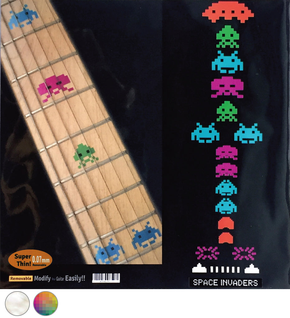 Space Invaders - Fret Markers for Guitars & Bass - Inlay Stickers Jockomo