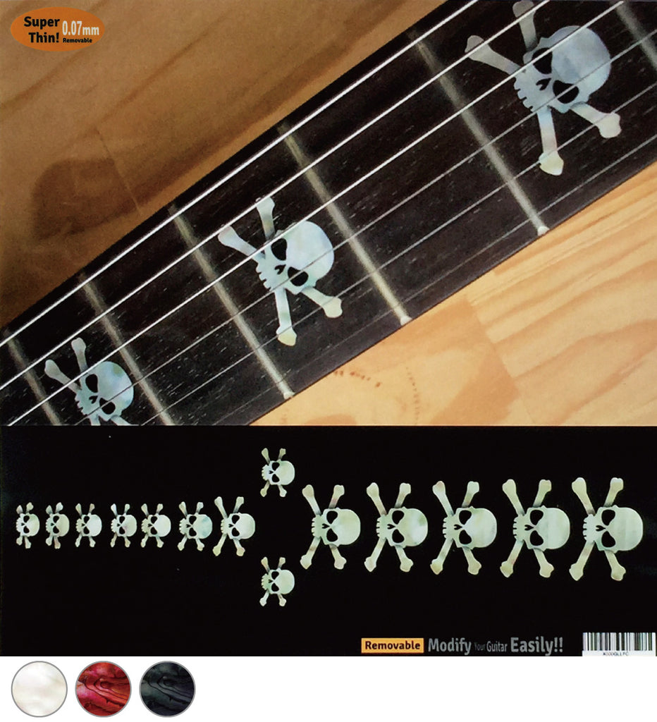 Skull Fret Markers Inlay Stickers - Inlay Stickers Jockomo