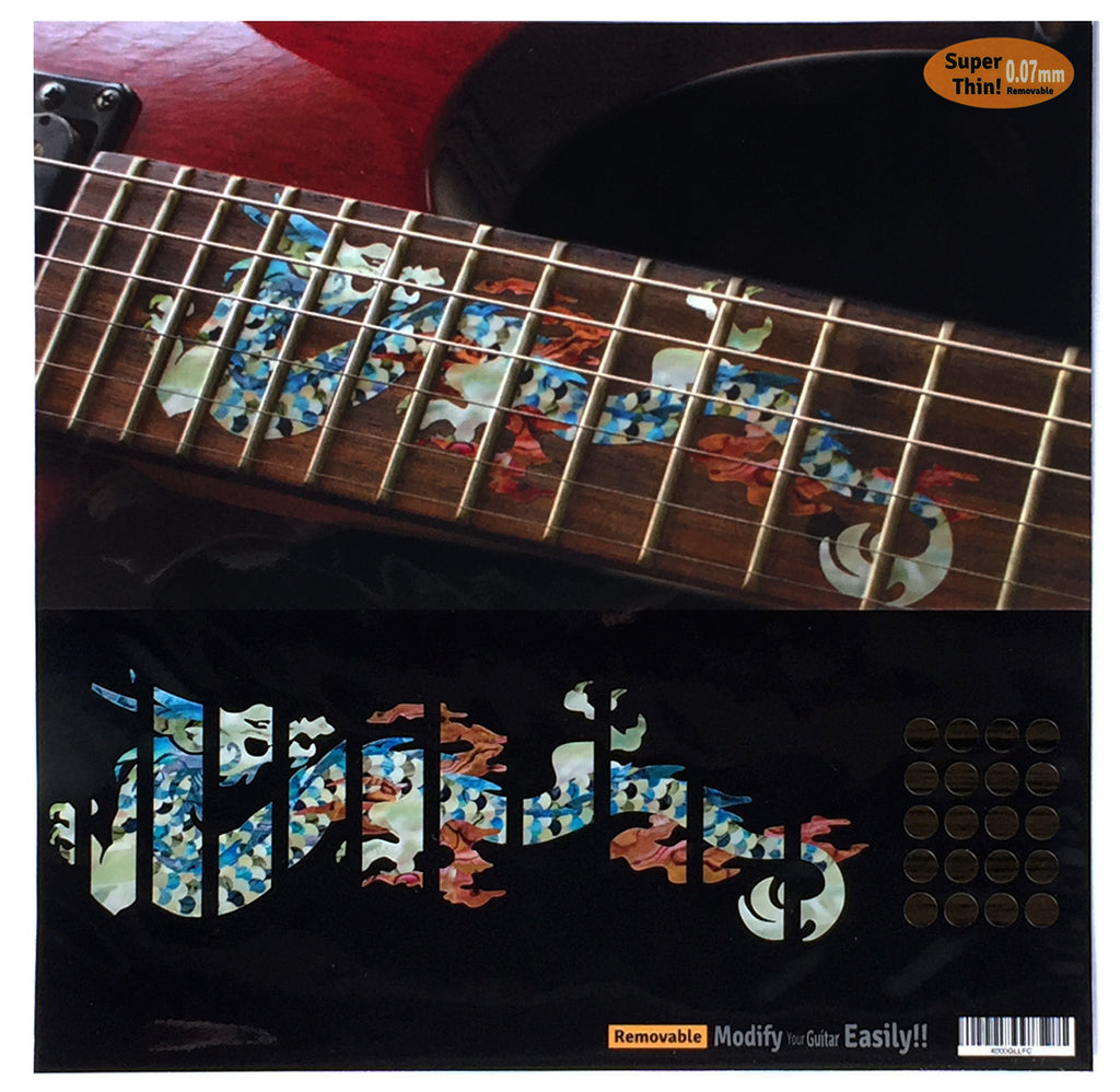 Dragon Fret Markers Inlay Stickers For Guitar - Inlay Stickers Jockomo