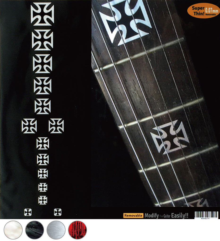 Iron Cross - Fret Markers for Guitars & Bass - Inlay Stickers Jockomo