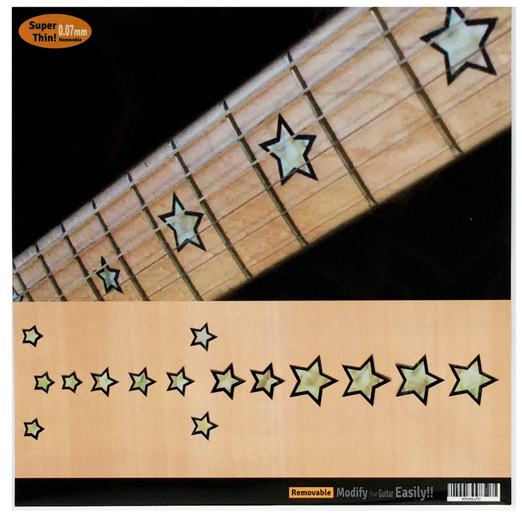 Samboras stars fretboard markers inlay sticker inlay stickers jockomo