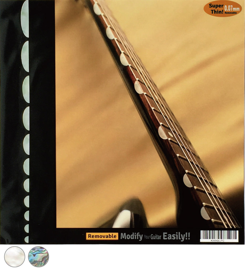 Thumbnail / Half Moon - Fret Side Markers Inlay Sticker for Guitars - Inlay Stickers Jockomo