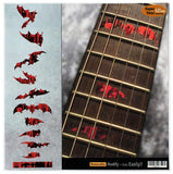 Bat Wings Vampire Fret Markers Inlay Stickers - Inlay Stickers Jockomo