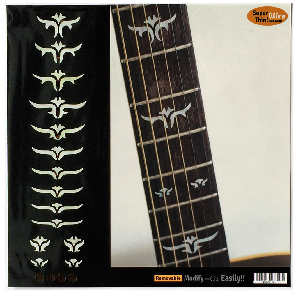 Tailored Leaves - Fret Markers for Guitars & Bass - Inlay Stickers Jockomo