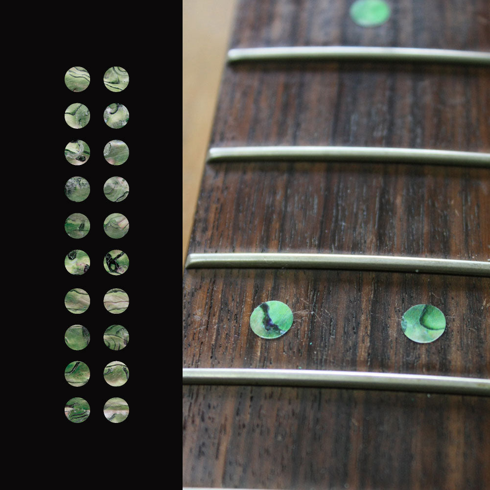 "1/4""(6.35mm) Dot Fret Markers - Inlay Stickers Jockomo"