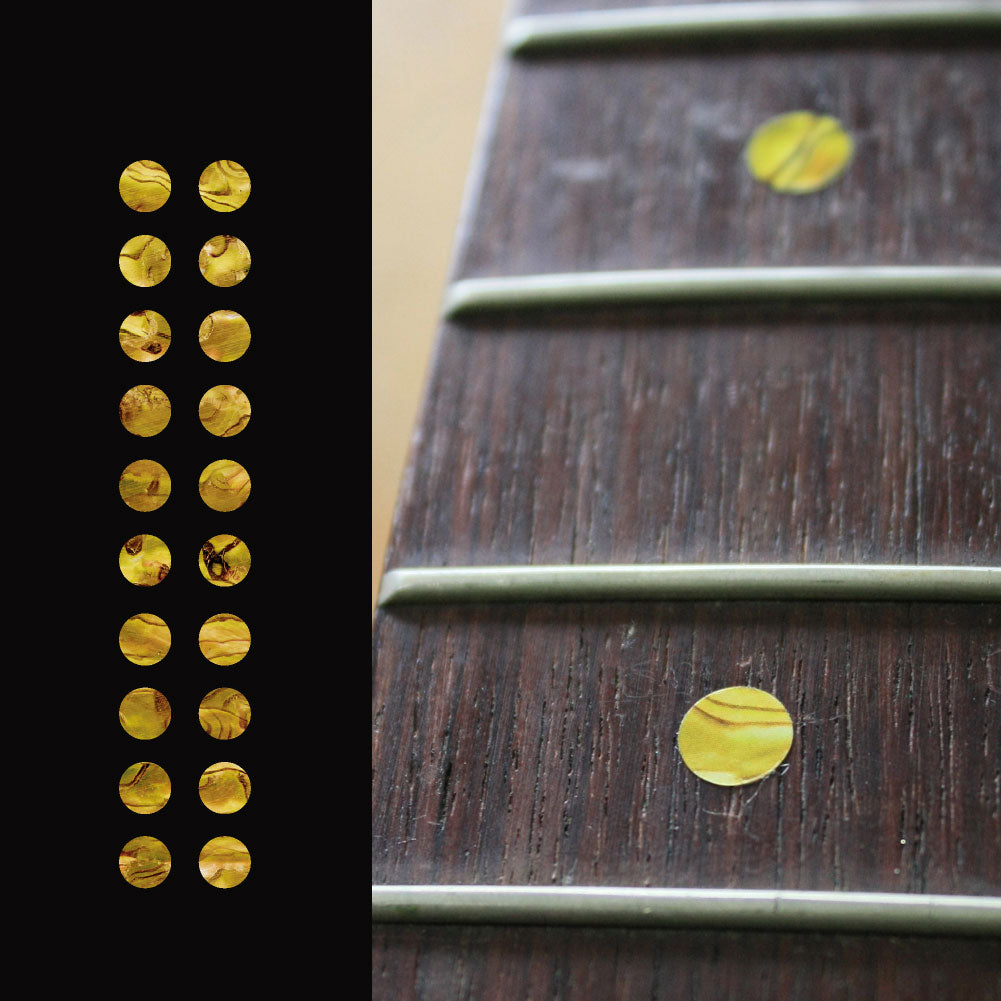 "1/4""(6.35mm) Dots Fretboard Markers Inlay Sticker Decals 20pcs in a pack - Inlay Stickers Jockomo"