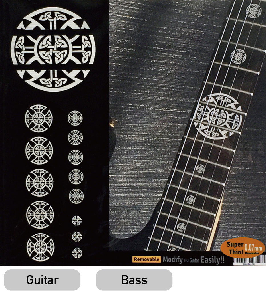 Celtic Cross (Metallic) - Emblem 12th Fret Markers Set - Inlay Stickers Jockomo