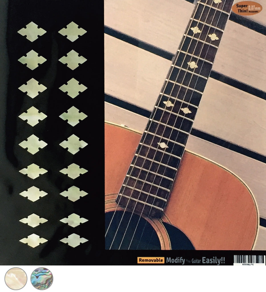 Traditional Slotted Diamonds - Fret Markers Inlay Stickers Decals for Guitars, Bass & Ukuleles - Inlay Stickers Jockomo