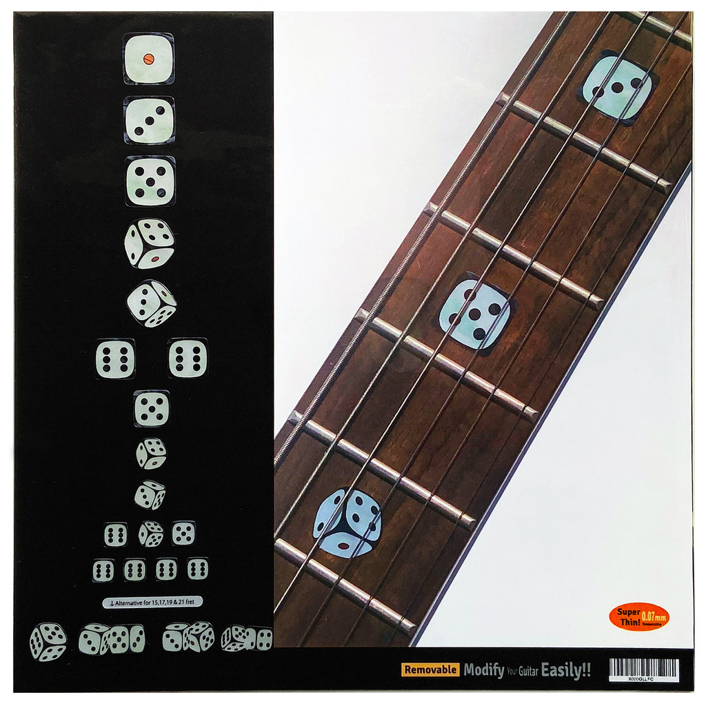 Rolling Dices - Fret Markers Inlay Stickers for Guitars - Inlay Stickers Jockomo