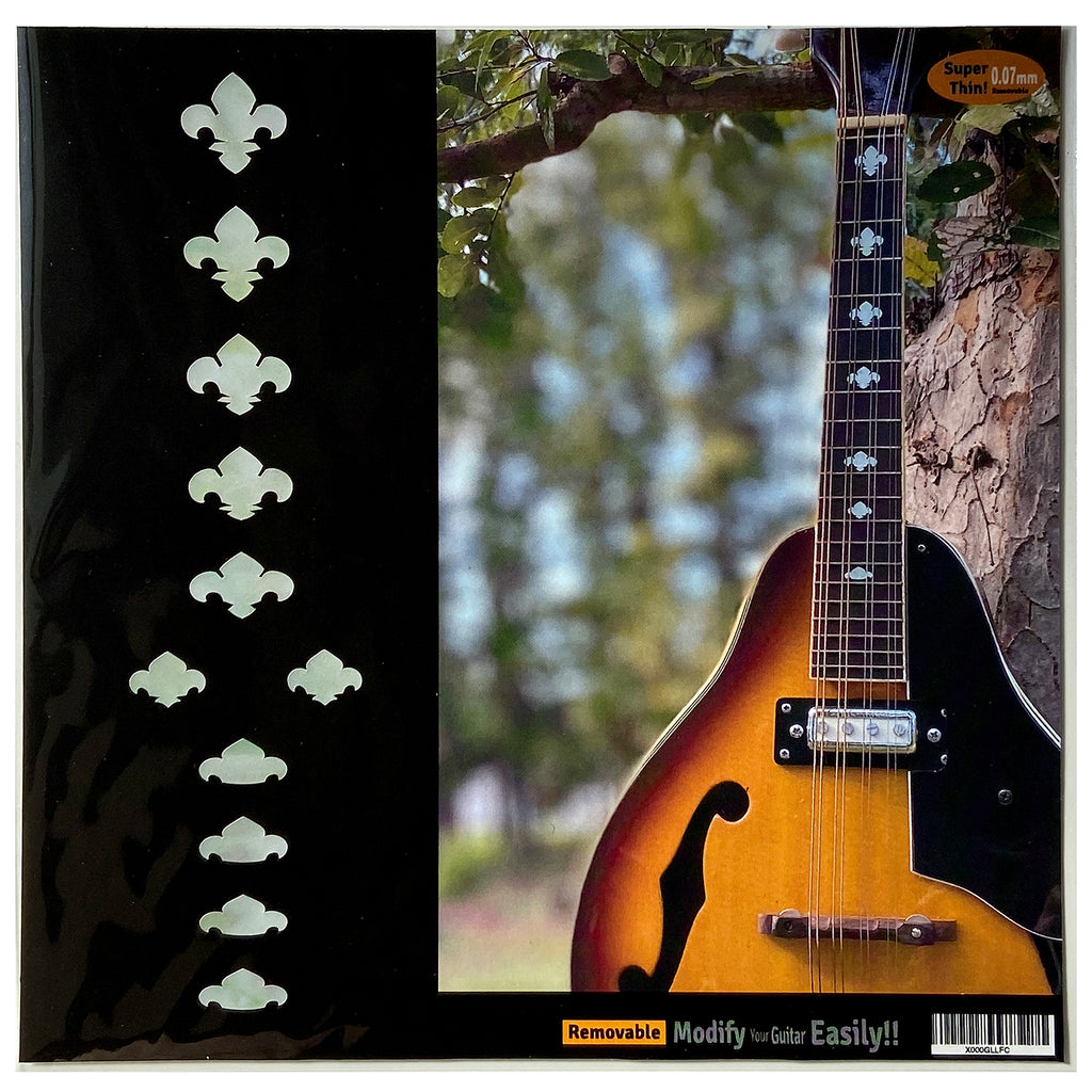 Fleur de Lys - Fret Markers for Mandolins & Ukuleles - Inlay Stickers Jockomo