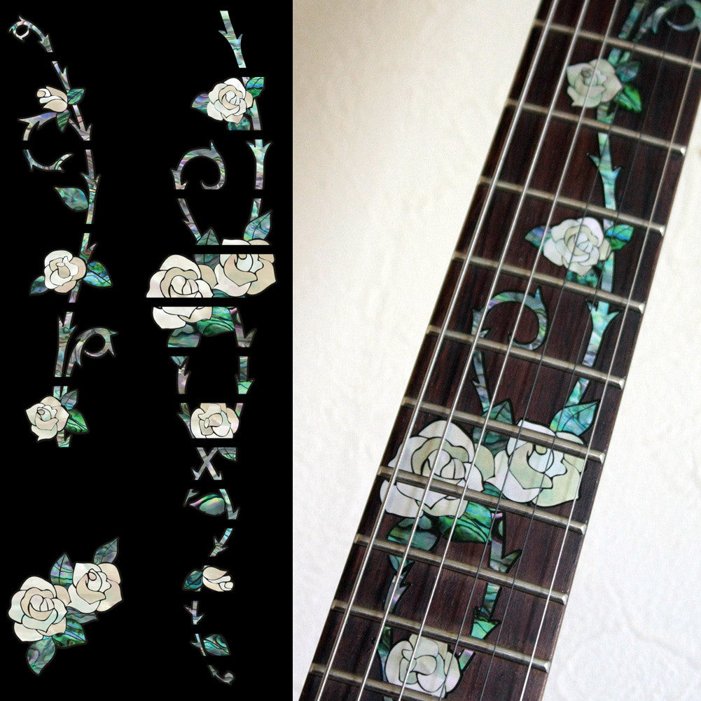 Gypsy Roses - Fret Markers Inlay Stickers for Guitars - Inlay Stickers Jockomo