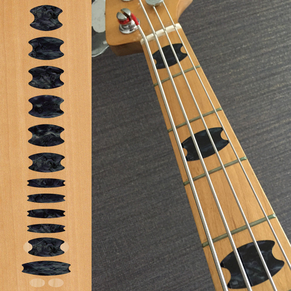 Oval Crowns - Fret Markers for Bass - Inlay Stickers Jockomo