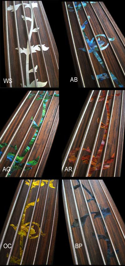 Tree Of Life - Fret Markers Inlay Stickers Decals for Fretless Bass - Inlay Stickers Jockomo