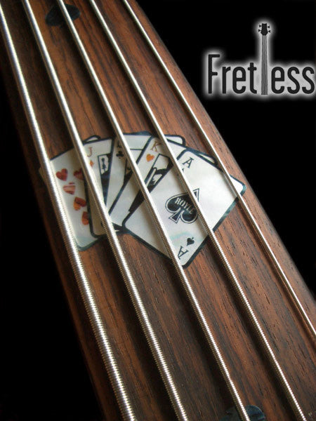 Playing Cards for Fretless Bass Fret Markers Inlay Stickers - Inlay Stickers Jockomo