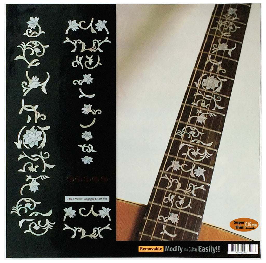Oriental Flowers Fret Markers Inlay Stickers For Guitar - Inlay Stickers Jockomo