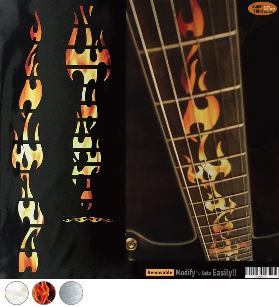 Fire Flames - Fret Markers Inlay Stickers for Guitars - Inlay Stickers Jockomo