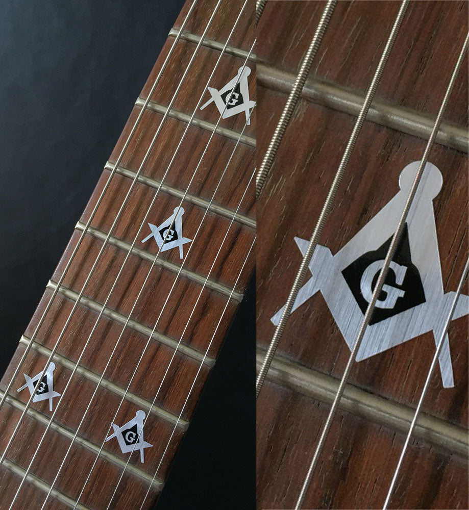 Blink 182 Tom Delonge / Square & Compass - Fret Markers Inlay Stickers Decals for Guitars & Bass - Inlay Stickers Jockomo