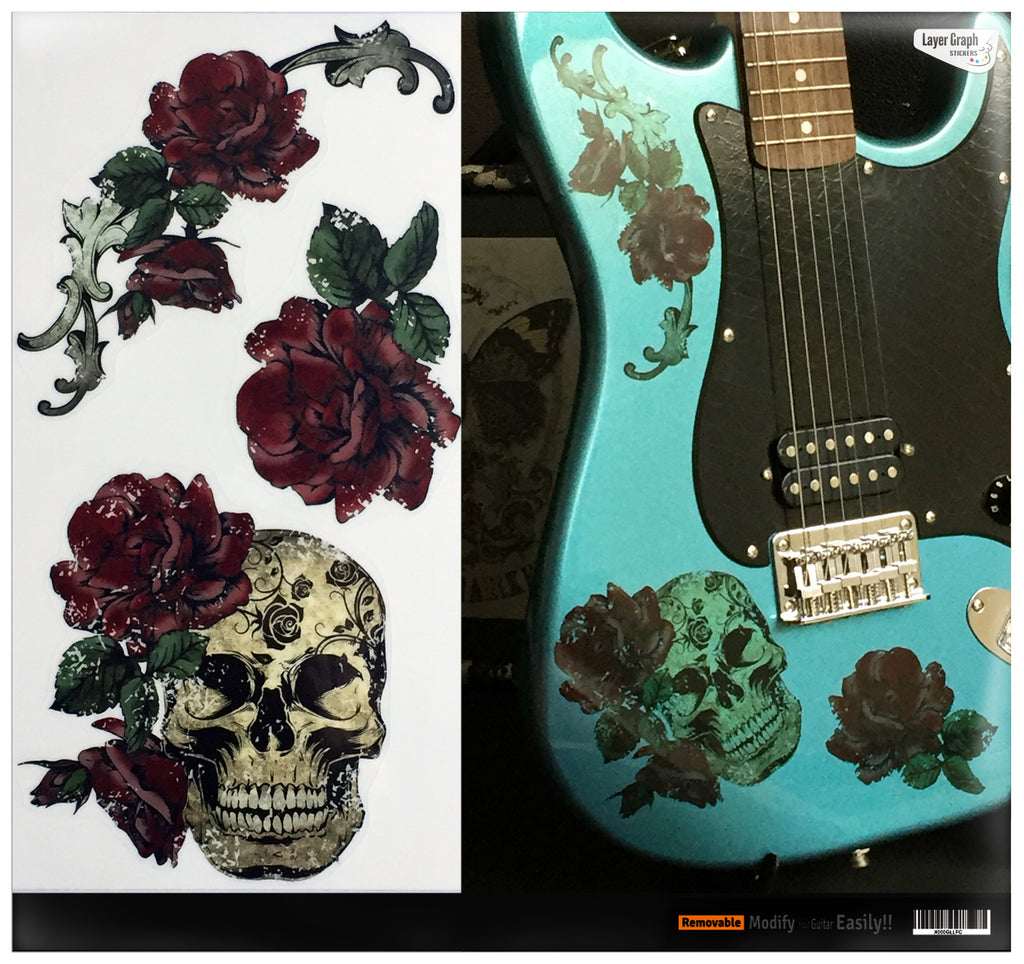 Gothic Skull & Roses - Layer Graph Stickers - Inlay Stickers Jockomo