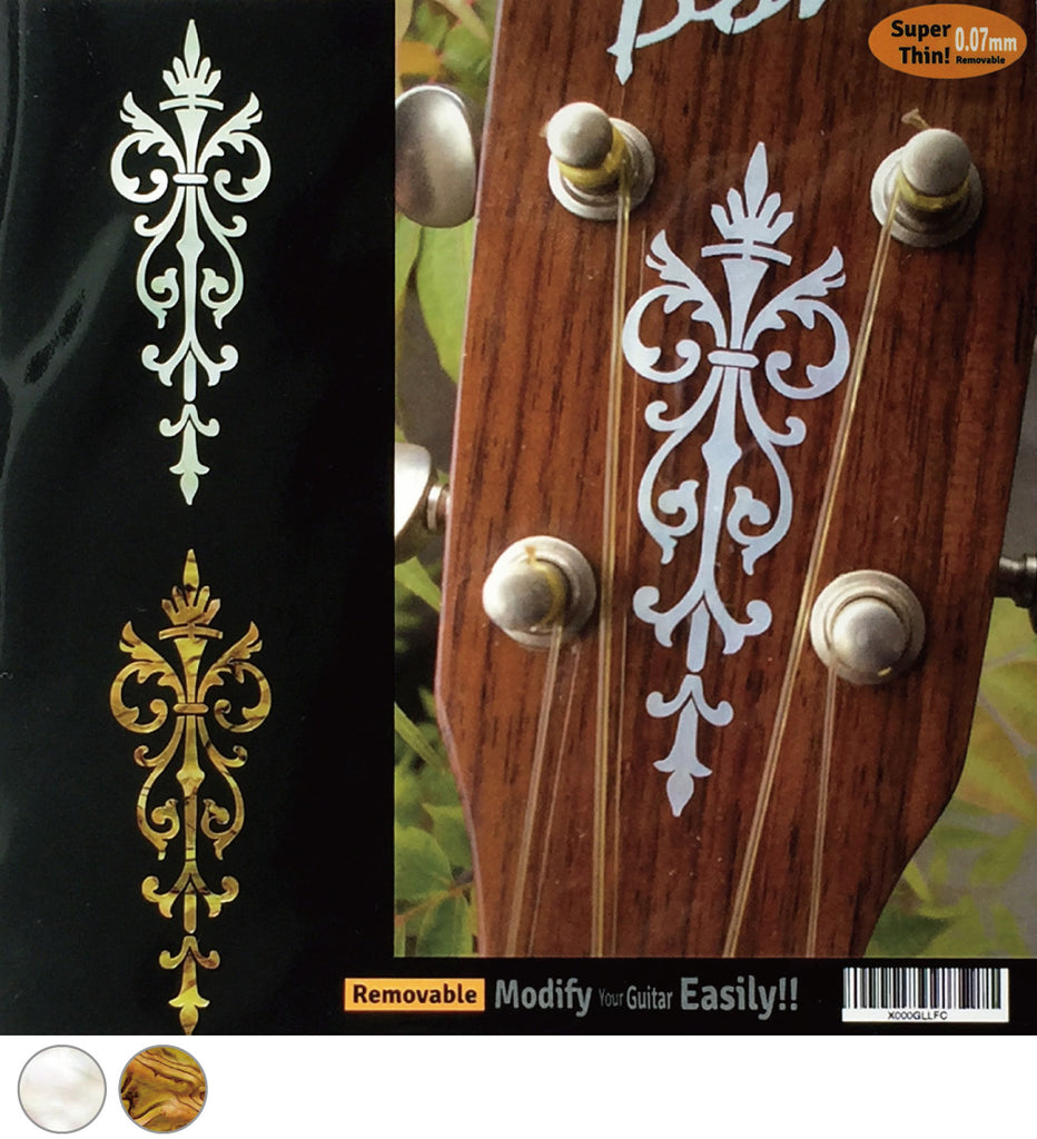 Small Torch - Inlay Sticker for Guitar & Ukulele Headstock - Inlay Stickers Jockomo