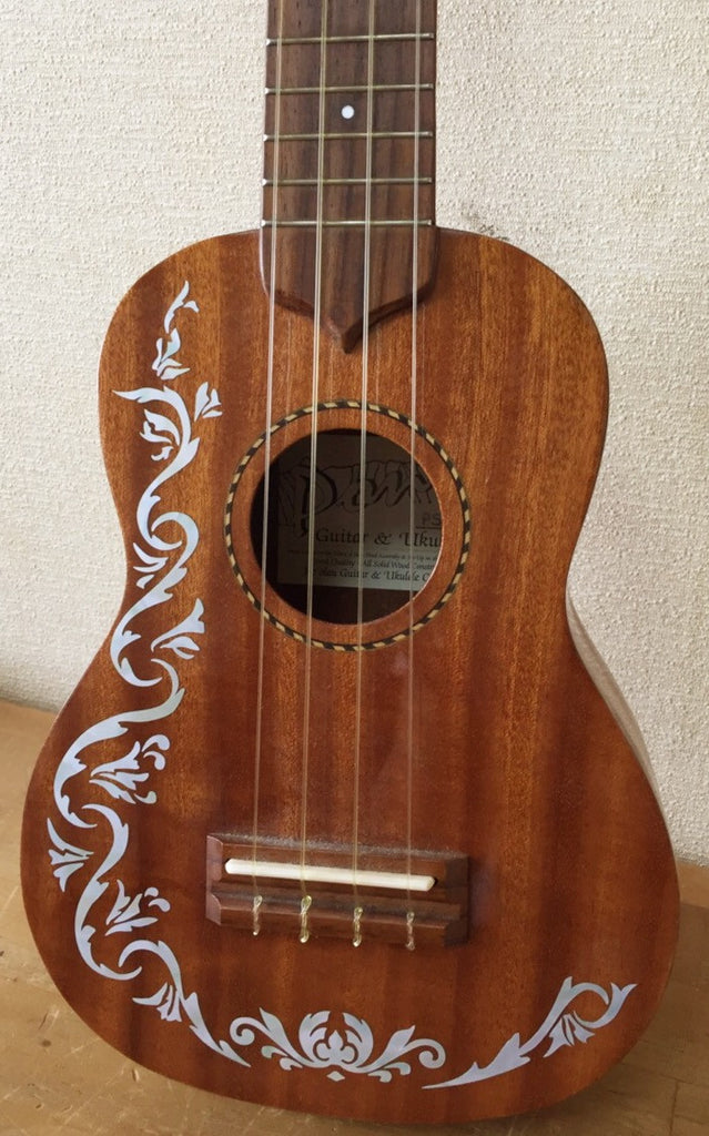 Ukulele Cowboy Fancy Inlay Sticker - Inlay Stickers Jockomo