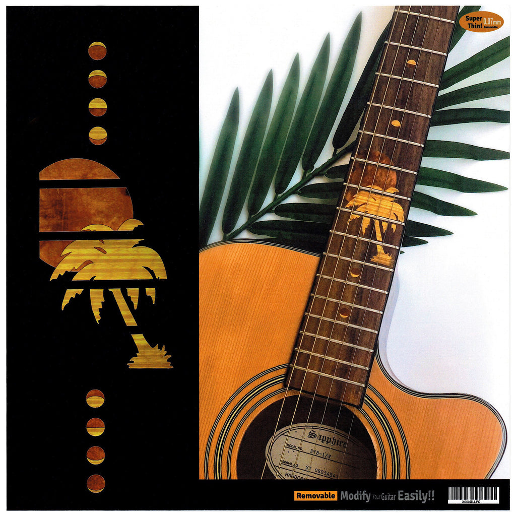 Hawaiian Sunset - Fret Markers Inlay Stickers for Guitar - Inlay Stickers Jockomo