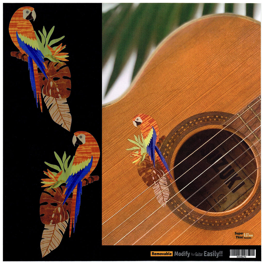 Exotic Birds (Parrots) - Inlay Stickers for Guitar, Bass & Ukulele - Inlay Stickers Jockomo