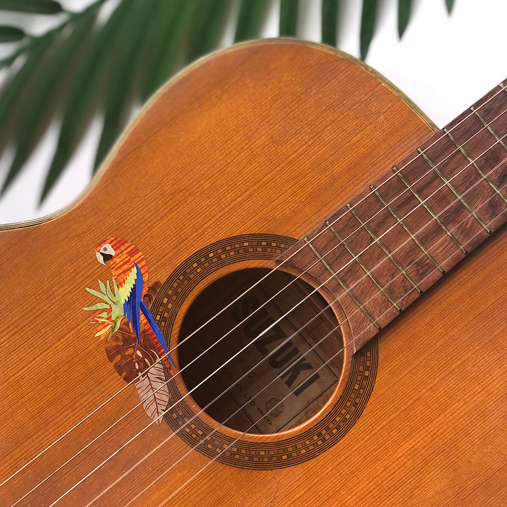 Exotic Birds (Parrots) - Inlay Stickers for Guitars, Bass & Ukuleles - Inlay Stickers Jockomo