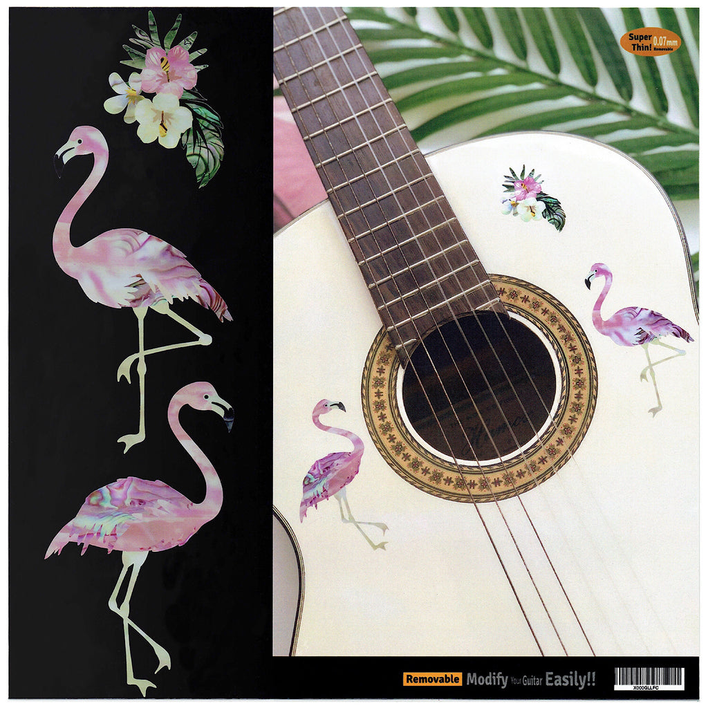 Tropical Flamingos - Inlay Stickers for Guitar, Bass & Ukulele - Inlay Stickers Jockomo