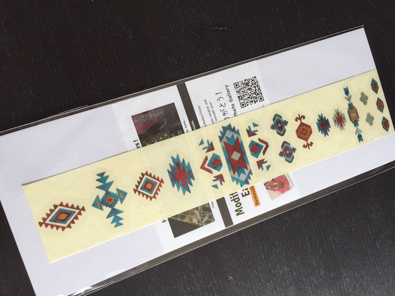 Native American / Ethnic Pattern (Turquoise) - Inlay Stickers Jockomo