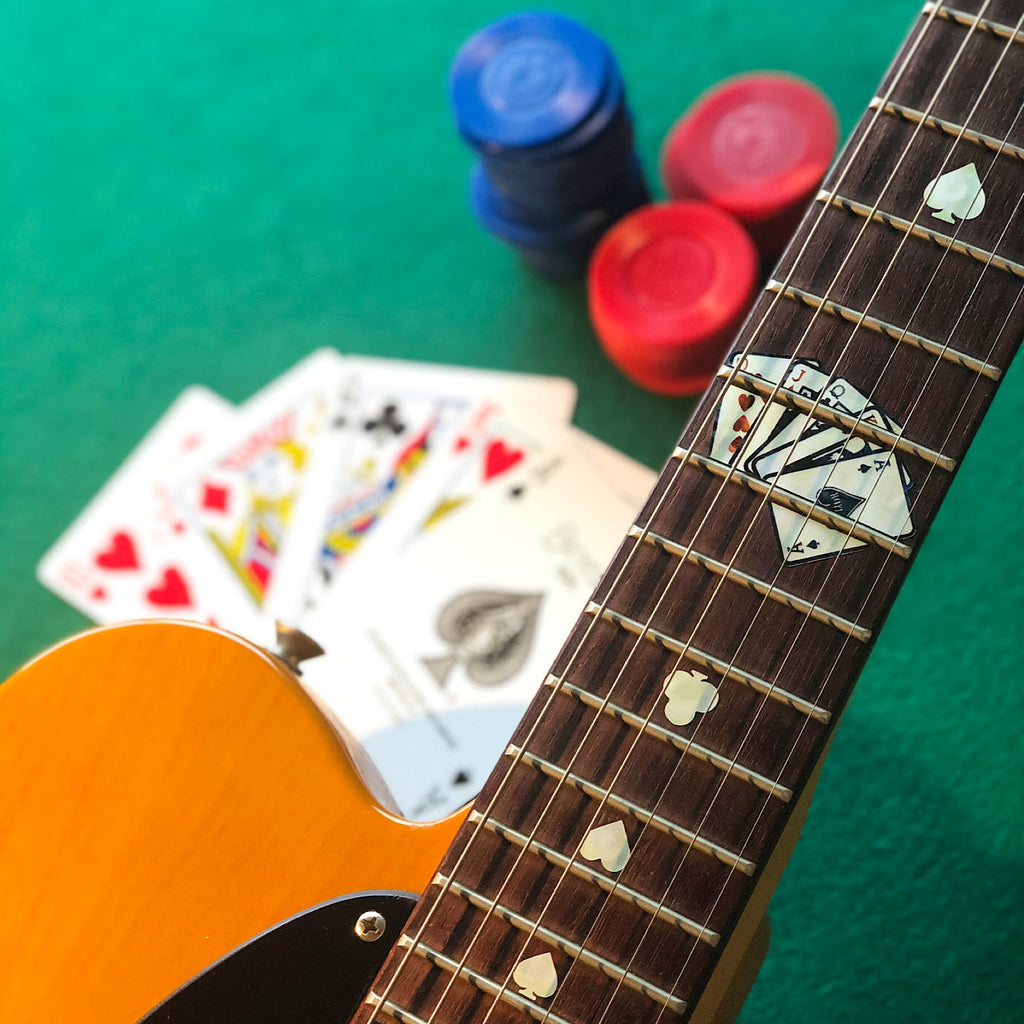 Playing Cards - Fret Markers for Guitars - Inlay Stickers Jockomo