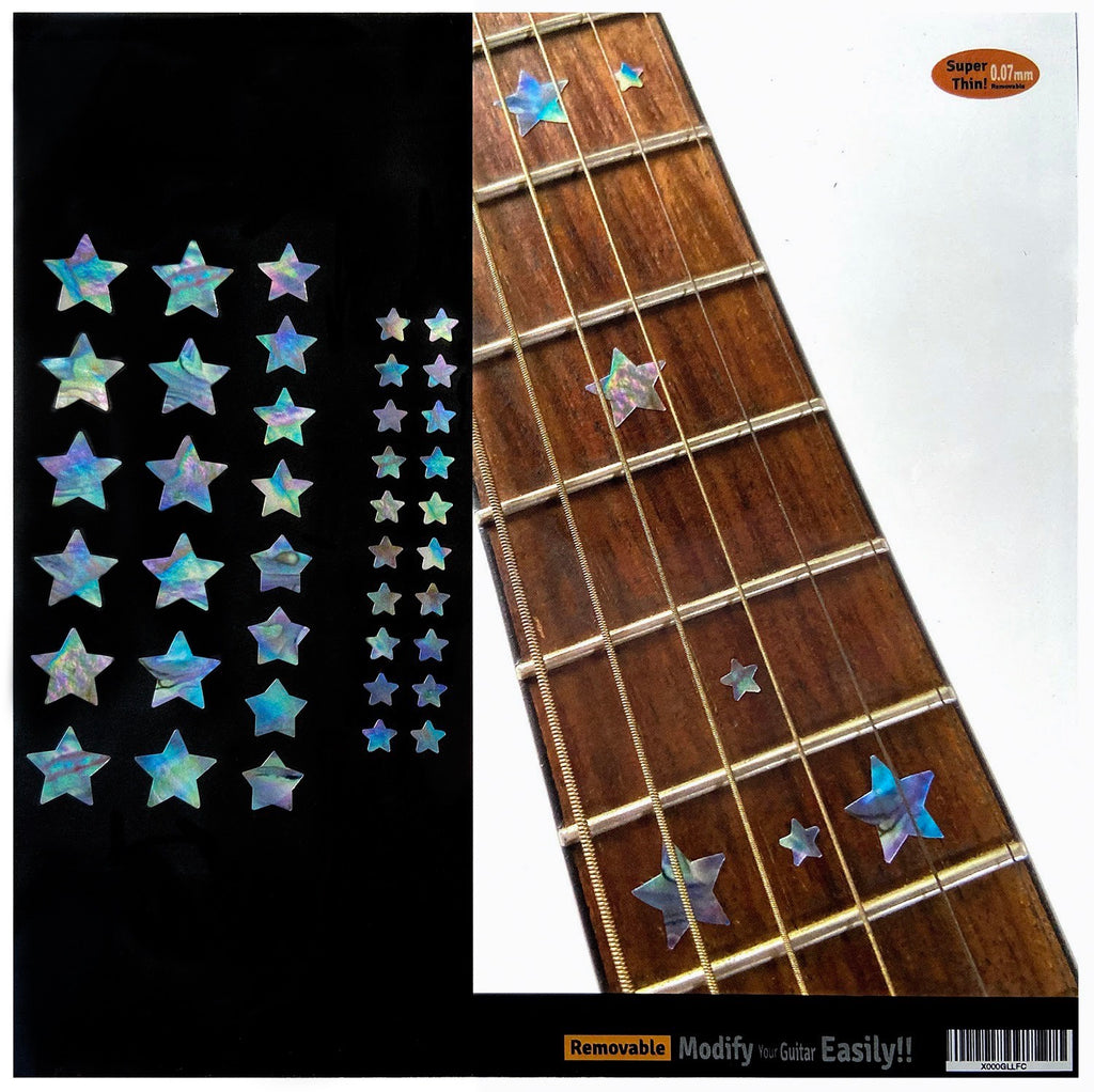 Stars Fret Markers Set - Inlay Stickers Jockomo