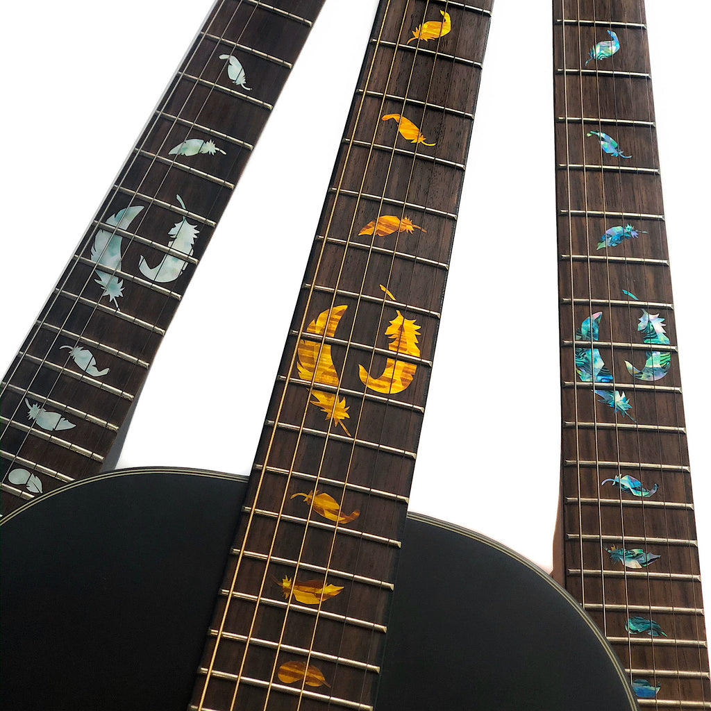 Flight Feathers - Fret Markers Inlay Stickers for Guitars