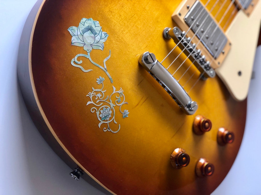 Lotus Inlay Stickers Decals Guitar Bass - Inlay Stickers Jockomo