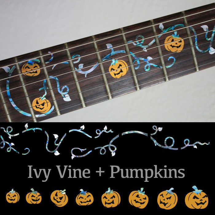 Ivy Vine with Pumpkins - Fret Markers Inlay Stickers for Guitar - Inlay Stickers Jockomo