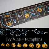 Ivy Vine with Pumpkins Fret Markers Inlay Stickers Guitar