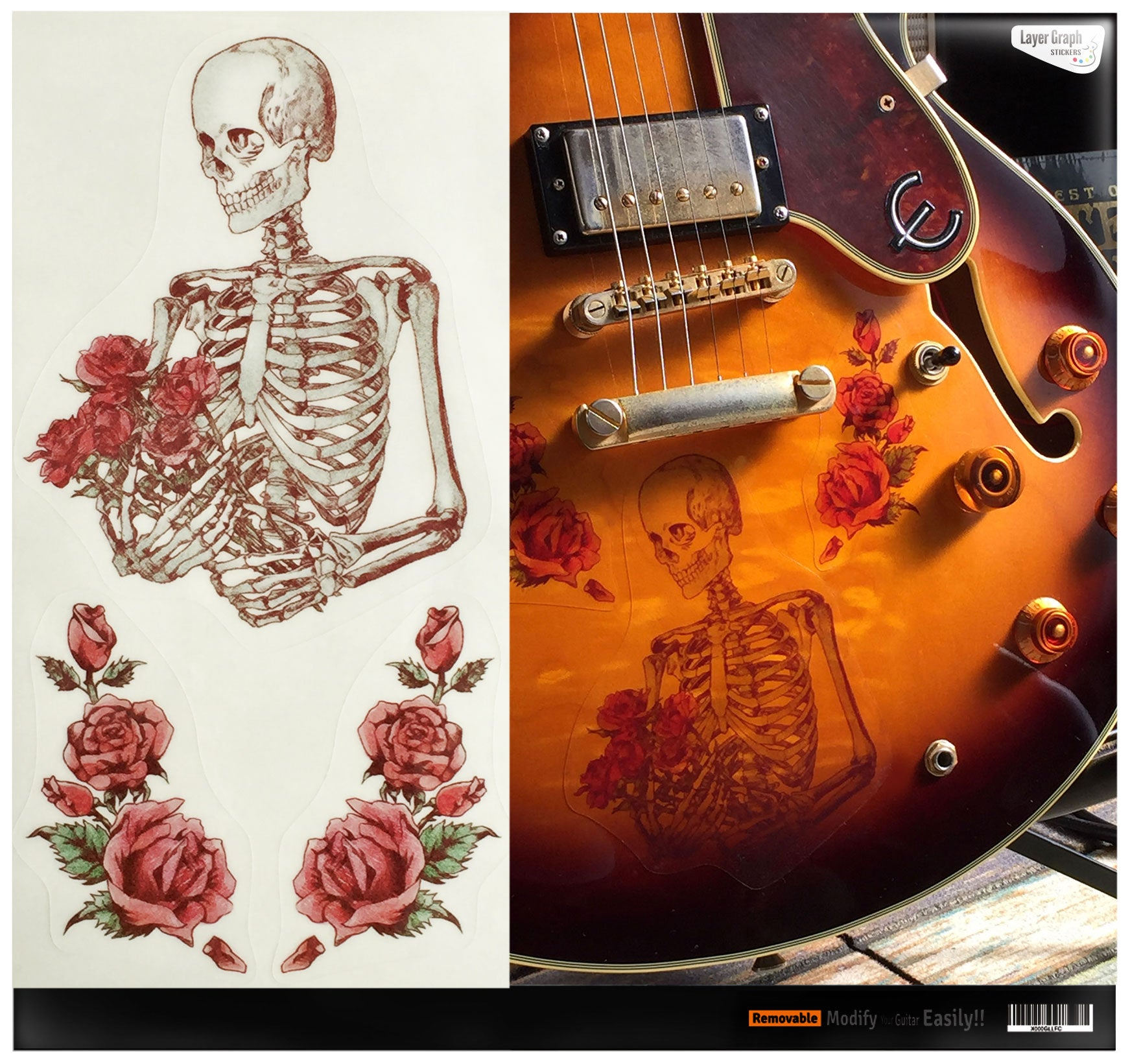Layer Graph Sticker / Skeleton - Memories in a Bouquet of Roses - Inlay Stickers Jockomo