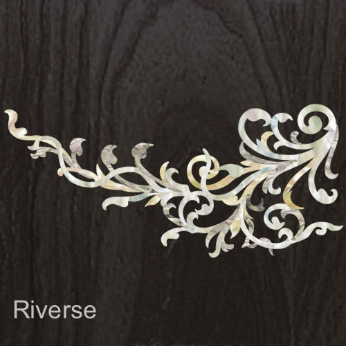 Vintage Vines (White Pearl) - Inlay Stickers Jockomo