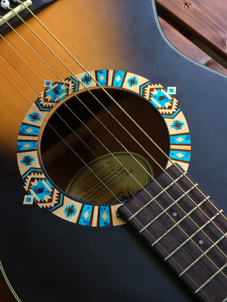 Native American / Ethnic Pattern (Natural) Purfling for Guitar - Inlay Stickers Jockomo