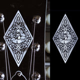 Rose Diamond (Carved Pattern Metallic) Inlay Stickers Decals
