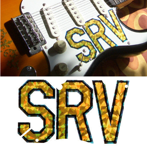 Pickguard Sticker Decal for Stratocaster SRV Logo