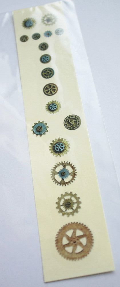 Steampunk Gears - Fret Markers for Guitars & Bass - Inlay Stickers Jockomo