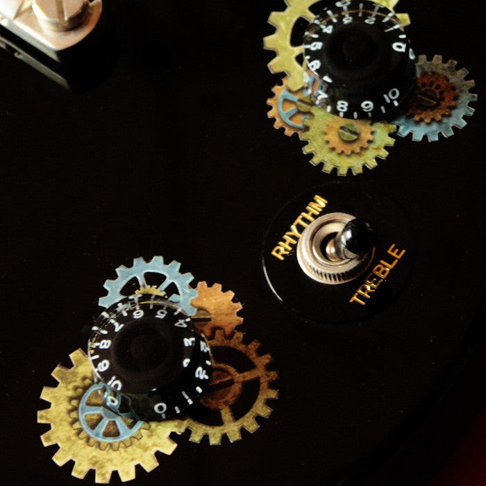 Steampunk Gears - Volume & Tone Knobs Decals - Inlay Stickers Jockomo