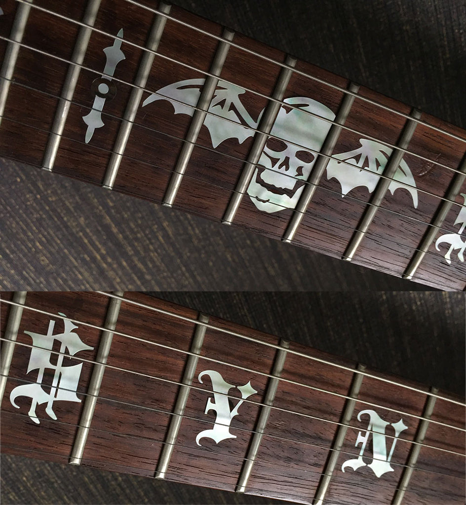 "Synyster Gates ""SYN"" and Death Bats for Guitar - Inlay Stickers Jockomo"