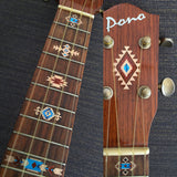 Native American Style Ethnic Pattern Fret Markers For Ukulele (Natural)