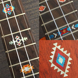 Native American Style Ethnic Pattern Fret Markers For Ukulele (turquoise)