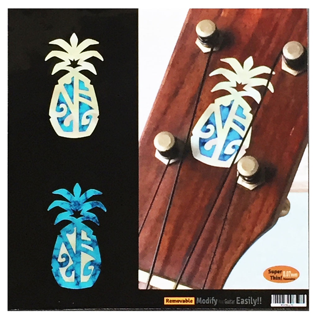 Pineapple - Inlay Sticker Decal for Ukulele Headstock - Inlay Stickers Jockomo