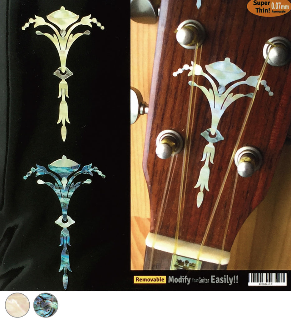 Ukulele Torch Headstock Peghead - Inlay Stickers Jockomo
